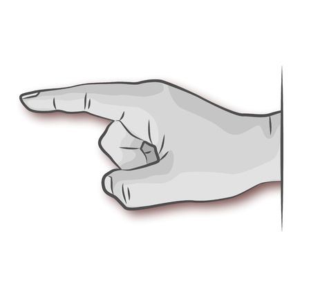 Hand and notice Vector