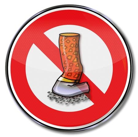 non: Non smoking sign Illustration