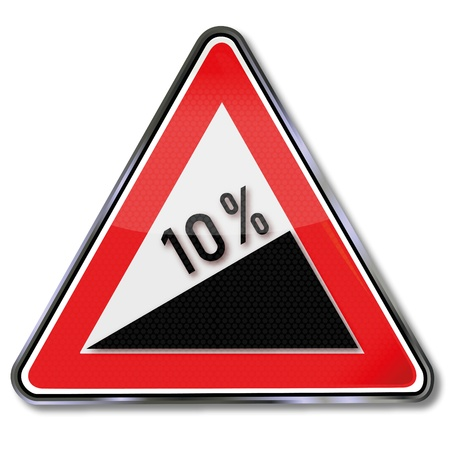 fcc: Traffic sign 10 percent slope