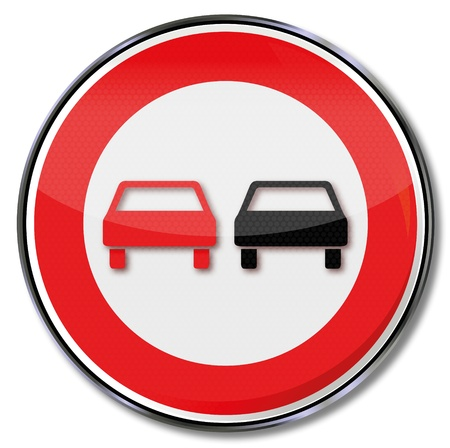 overtaking: Traffic sign no overtaking