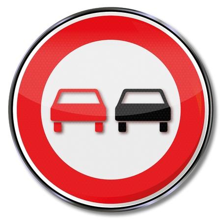 no overtaking: Traffic sign no overtaking