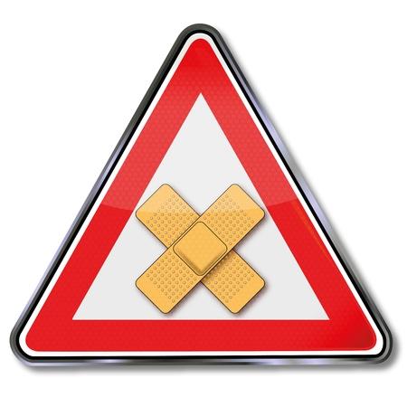 accident woman: Registrarse con el pavimento