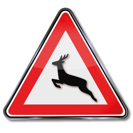 warning triangle: Traffic sign Wildwechsel Illustration