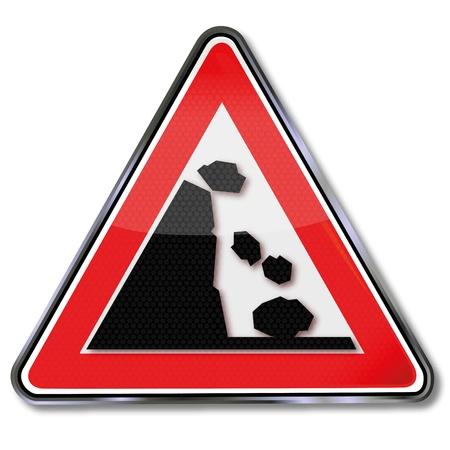 rockfall: Rockfall road sign