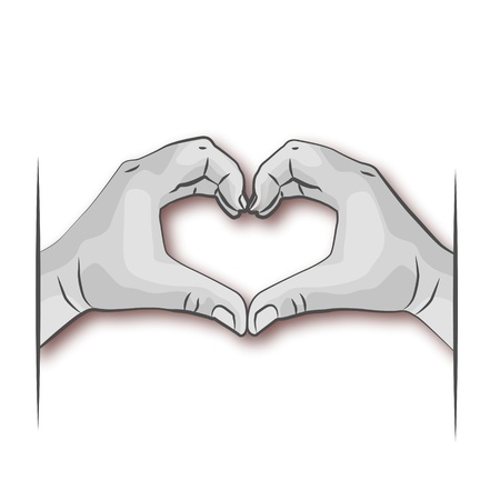 Hand and Heart Stock Vector - 14487820