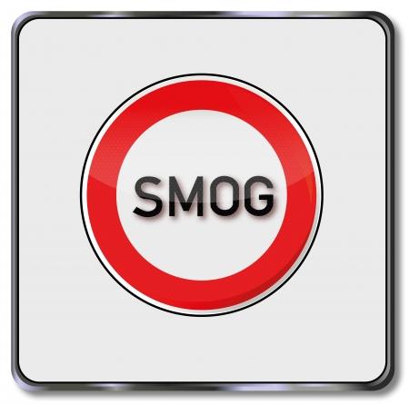 smog: Traffic sign smog zone Illustration
