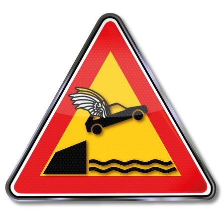 slow down: Plate car with wings Illustration