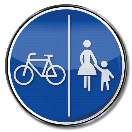 Traffic sign pedestrians and cyclists Vector