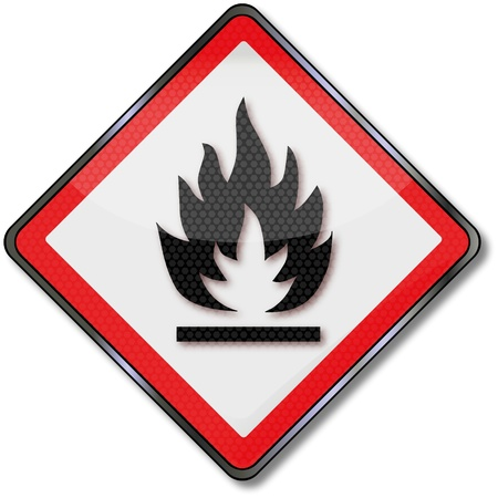 combustible: highly flammable combustible material Illustration