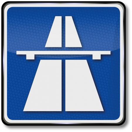 Highway traffic sign Stock Vector - 14487849