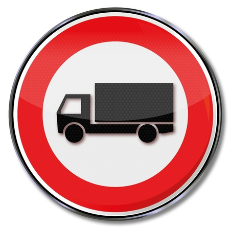fcc: Traffic sign prohibiting trucks