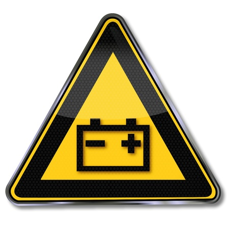 baterii: Bateria Etykieta ostrzegawcza