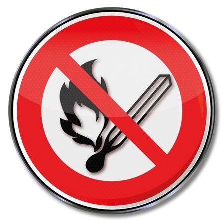 Prohibition signs prohibited fire Stock Illustratie