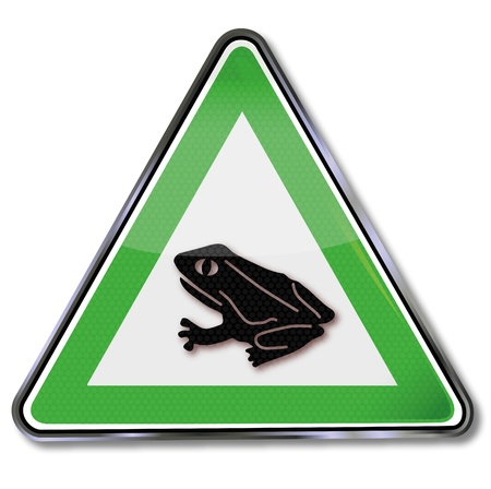 Traffic sign toad migration Vector