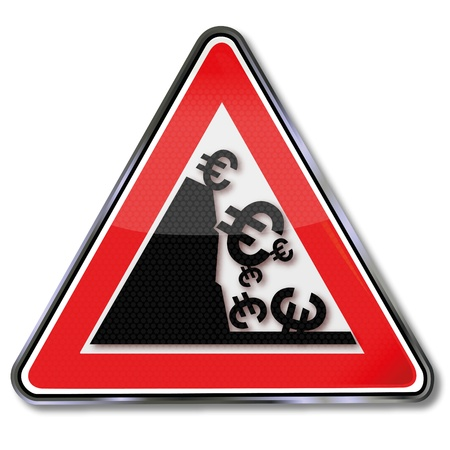 Sign slump 向量圖像