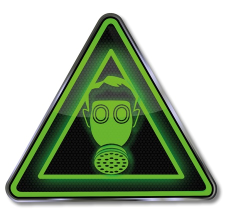 Sign with gas mask Stock Vector - 14531412