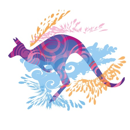 Australia, kangaroos and marsupial Vector