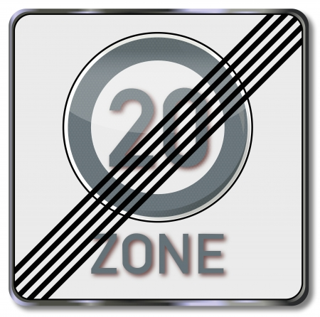 lifted: Traffic sign 20 kmh zone lifted