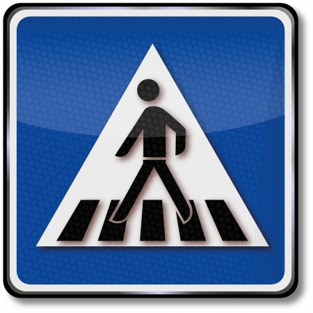 Crosswalk road sign Vector