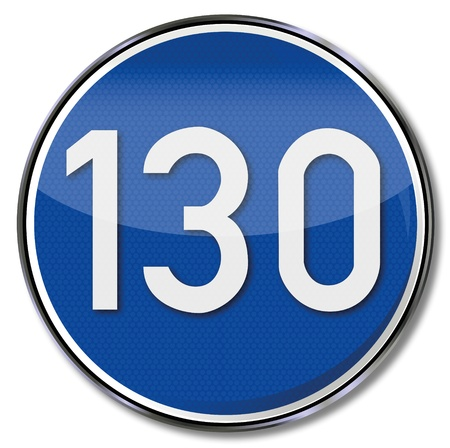 fcc: 130 kmh speed limit road sign
