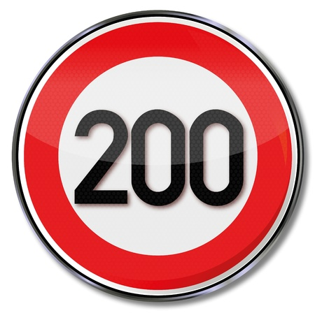 speeder: Traffic sign 200 kmh