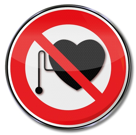 pacemaker: Sign against pacemaker Illustration