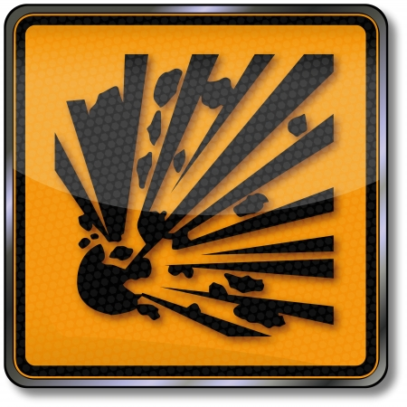 explosives: Explosion danger sign