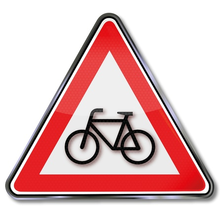 Bicycle traffic sign Vector