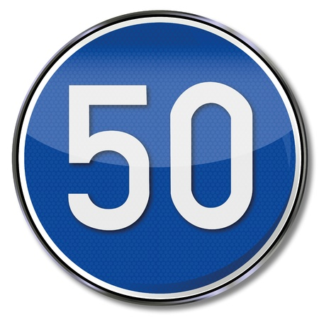 fcc: 50 kmh speed limit road sign