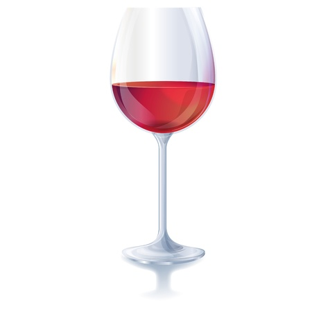 Red wine glass Vector