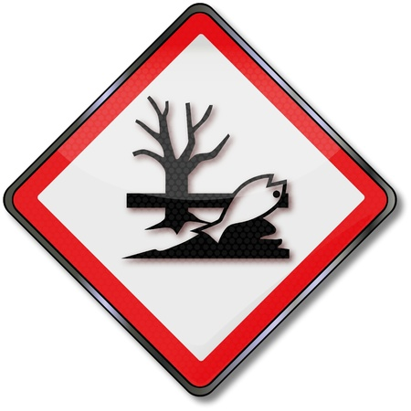 Danger signs toxic to the environment Vector