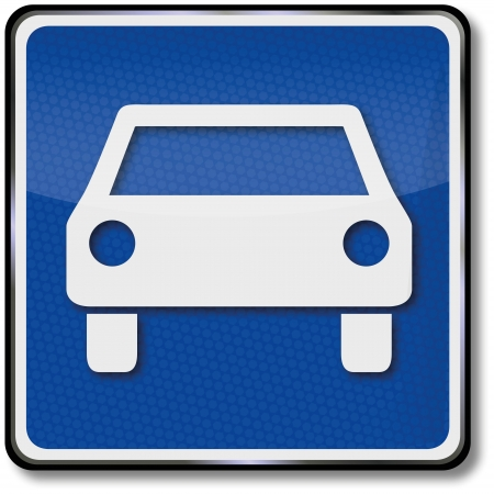Road sign dual carriageway Vector