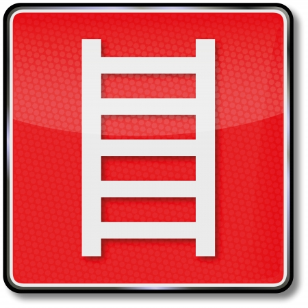 extinguishers: Fire safety signs fire escape Illustration