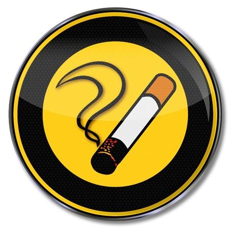 Sign-smoking pub Illustration