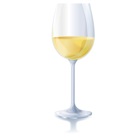 Glass of white wine Stock Vector - 14606601