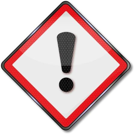 dangerous goods: Danger callsign Illustration