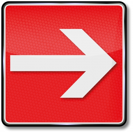 safety signs: Fire safety signs arrow to the right Illustration