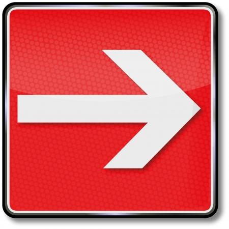 flecha derecha: Las señales de seguridad contra incendios flecha a la derecha