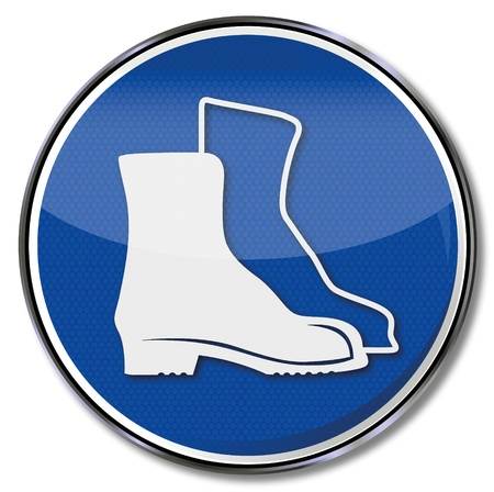 workplace safety: Safety signs Safety Shoes