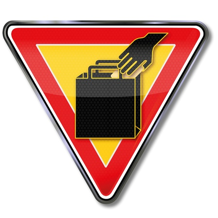 Warning sign pickpocket Stock Vector - 14666949