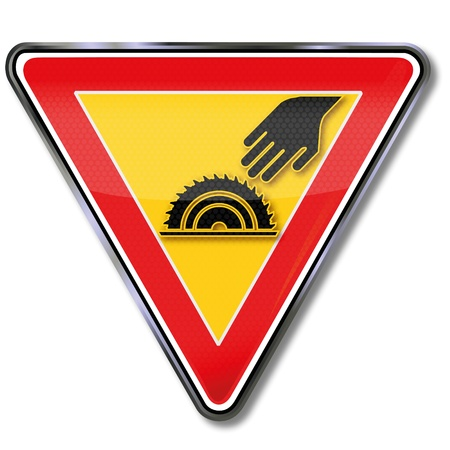 pictogram attention: Off-hand and circular