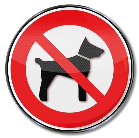 No sign prohibiting dogs Illustration