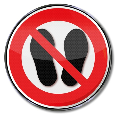 interdiction: L'interdiction des signes d'intrusion Illustration
