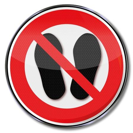 occupational risk: Prohibiting trespassing signs Illustration