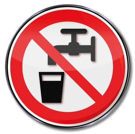 trucizna: Zakaz podpisuje żadnej wody pitnej
