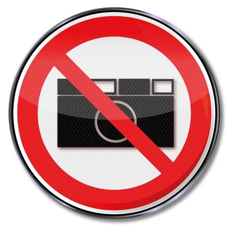 förbjuda: Förbudsskyltar förbjuden fotografering Illustration