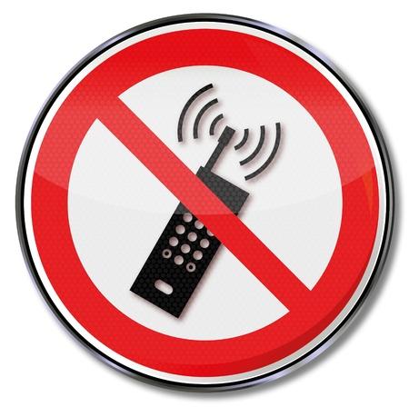 no cell: La prohibici�n no firmar los tel�fonos celulares Vectores