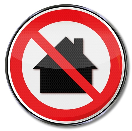 osh: Prohibition sign do not use in houses