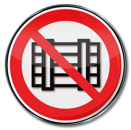 osh: Parking prohibition signs and store prohibited