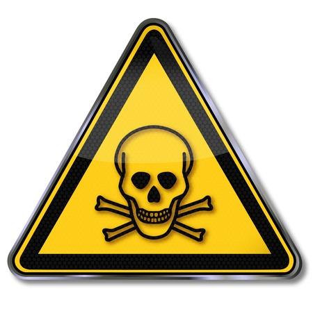 Gevaar tekenen en giftige dood Stock Illustratie